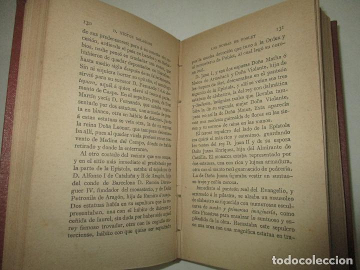 Libros antiguos: LAS RUINAS DE POBLET. BALAGUER, Víctor. 1885. - Foto 3 - 195307476