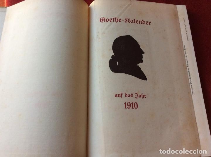 Libros antiguos: Goethe, calendario para el año 1910. Por Bierbaum, Otto Julius y C. (ed.) Schüddekopf. Envio grátis. - Foto 3 - 195308310