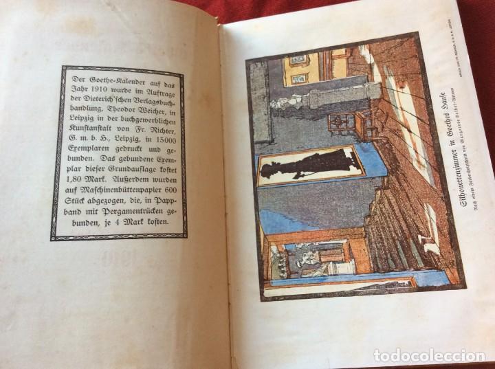 Libros antiguos: Goethe, calendario para el año 1910. Por Bierbaum, Otto Julius y C. (ed.) Schüddekopf. Envio grátis. - Foto 4 - 195308310