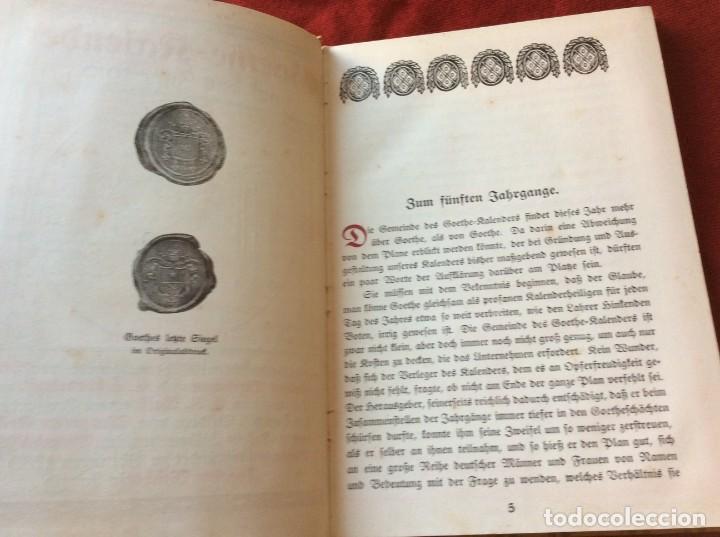 Libros antiguos: Goethe, calendario para el año 1910. Por Bierbaum, Otto Julius y C. (ed.) Schüddekopf. Envio grátis. - Foto 5 - 195308310