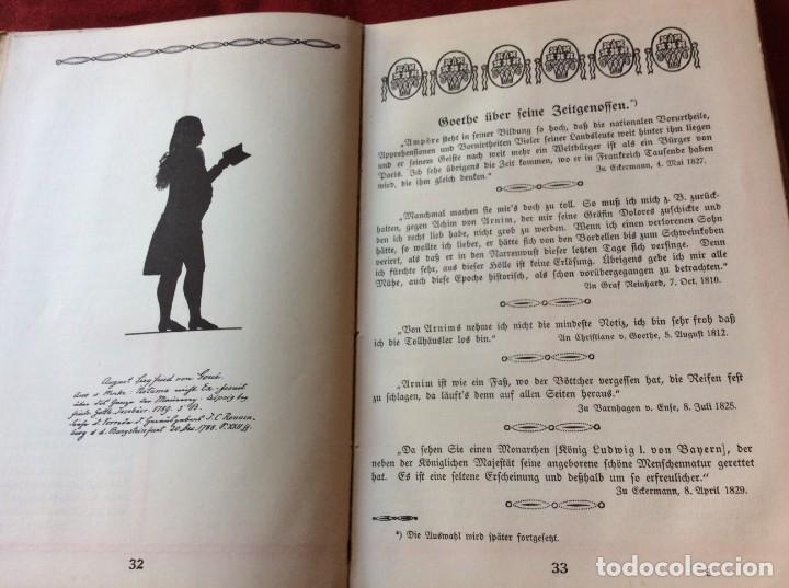 Libros antiguos: Goethe, calendario para el año 1910. Por Bierbaum, Otto Julius y C. (ed.) Schüddekopf. Envio grátis. - Foto 8 - 195308310