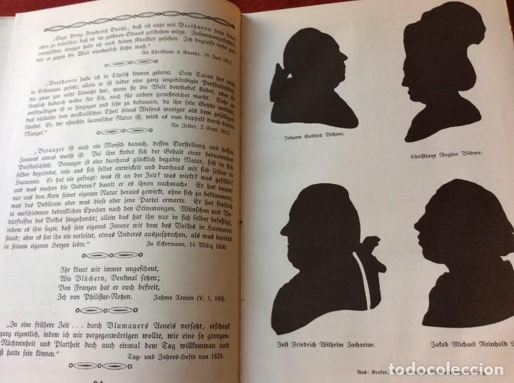 Libros antiguos: Goethe, calendario para el año 1910. Por Bierbaum, Otto Julius y C. (ed.) Schüddekopf. Envio grátis. - Foto 9 - 195308310