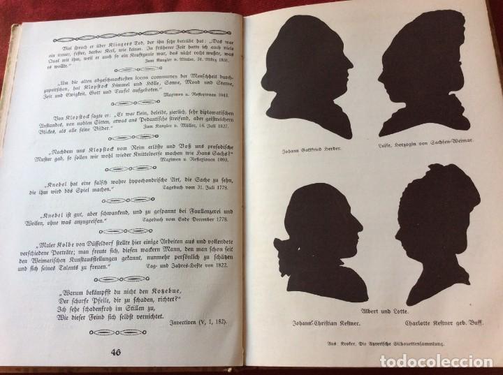Libros antiguos: Goethe, calendario para el año 1910. Por Bierbaum, Otto Julius y C. (ed.) Schüddekopf. Envio grátis. - Foto 11 - 195308310