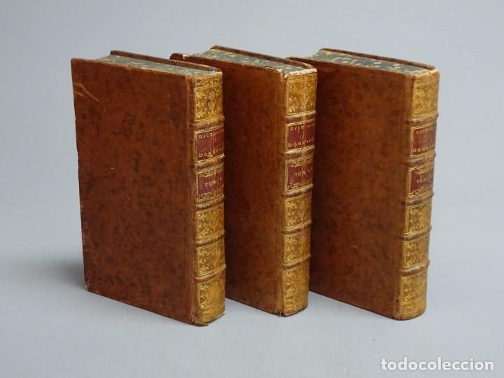 DICTIONNAIRE DOMESTIQUE PORTATIF - 3 VOLÚMENES - OBRA COMPLETA - PARIS 1765 (Libros Antiguos, Raros y Curiosos - Historia - Otros)