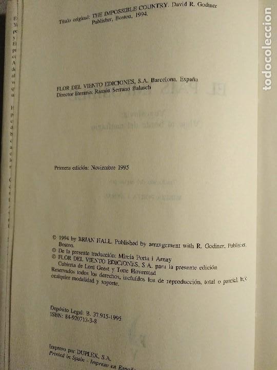 Libros antiguos: BRIAN HALL EL PAIS IMPOSIBLE YUGOSLAVIA VIAJE AL BORDE DEL NAUFRAGIO - Foto 5 - 195337397