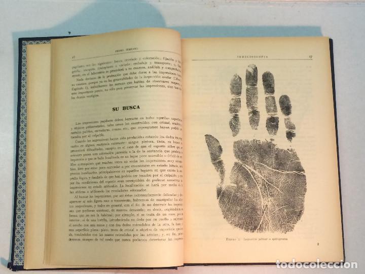 Libros antiguos: Pedro Serrano García: Indicioscopia. Impresiones - huellas - manchas pelos y fibras... - Foto 2 - 195343692