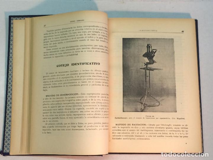 Libros antiguos: Pedro Serrano García: Indicioscopia. Impresiones - huellas - manchas pelos y fibras... - Foto 3 - 195343692