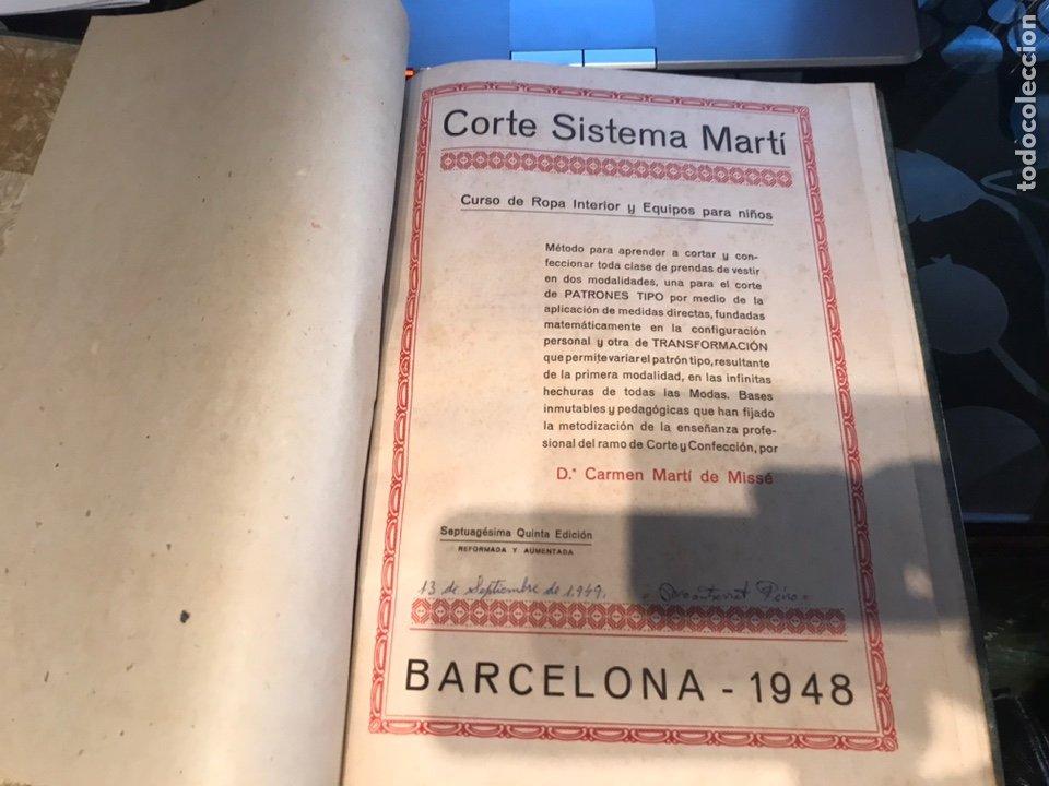 Libros antiguos: Corte sistema Marti - Foto 3 - 195362191