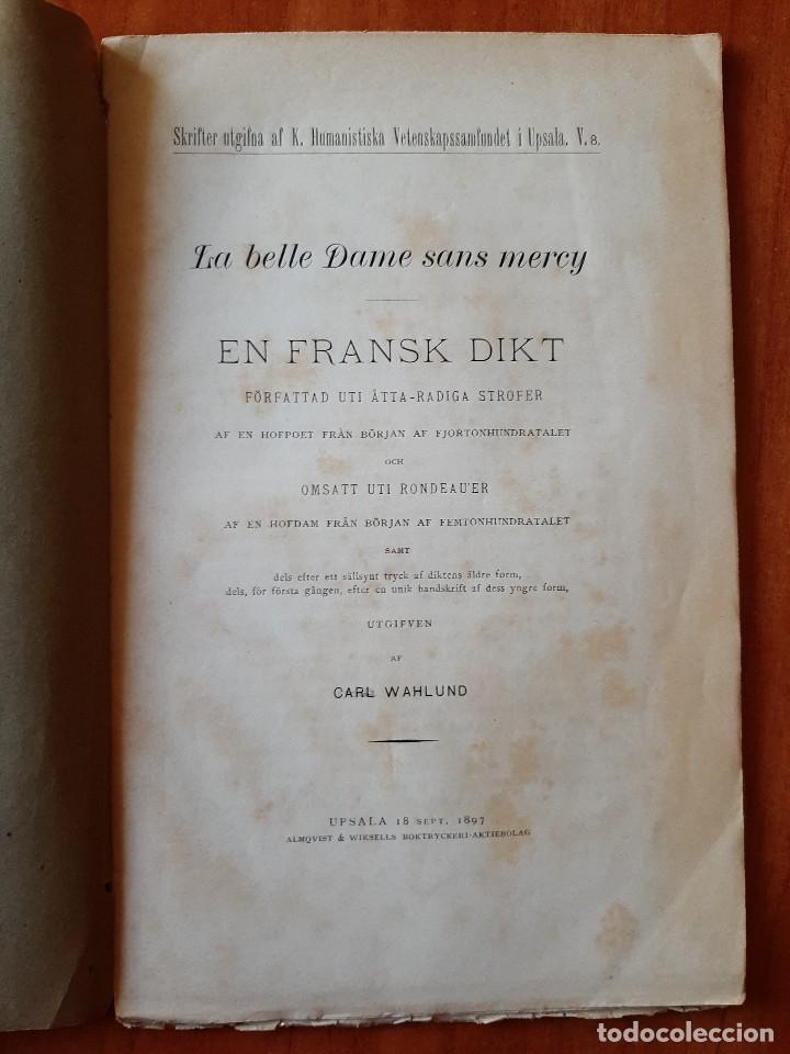1897 LA BELLE DAME SANS MERCY - CARL WAHLUND / EN SUECO (Libros antiguos (hasta 1936), raros y curiosos - Literatura - Narrativa - Otros)