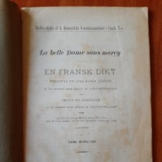 Libros antiguos: 1897 LA BELLE DAME SANS MERCY - CARL WAHLUND / EN SUECO. Lote 195369415