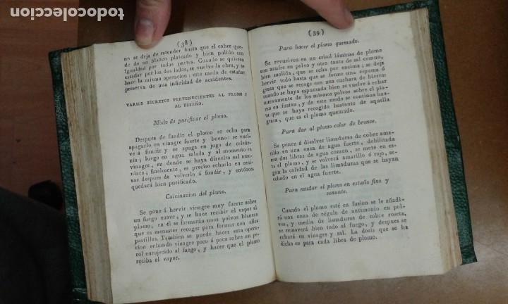 Libros antiguos: SECRETOS RAROS DE ARTES Y OFICIOS.IMPRESOR JUAN FRANCISCO PIFERRER EN 1827 (TOMO 1 Y 2) - Foto 4 - 195370738