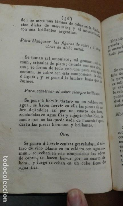 Libros antiguos: SECRETOS RAROS DE ARTES Y OFICIOS.IMPRESOR JUAN FRANCISCO PIFERRER EN 1827 (TOMO 1 Y 2) - Foto 5 - 195370738