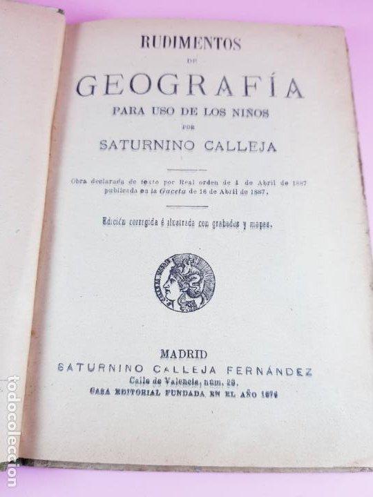 Libros antiguos: libro-geografía para niños-saturnino calleja-obra de texto-edición ilustrada-sobre 1900-ver fotos - Foto 4 - 195392758
