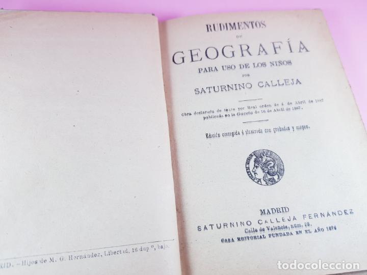 Libros antiguos: libro-geografía para niños-saturnino calleja-obra de texto-edición ilustrada-sobre 1900-ver fotos - Foto 10 - 195392758