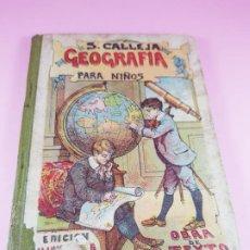 Libros antiguos: LIBRO-GEOGRAFÍA PARA NIÑOS-SATURNINO CALLEJA-OBRA DE TEXTO-EDICIÓN ILUSTRADA-SOBRE 1900-VER FOTOS. Lote 195392758