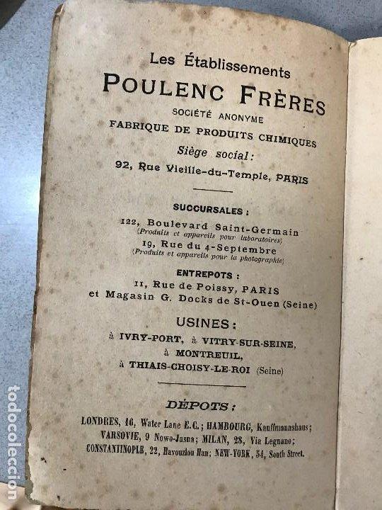 Libros antiguos: Essais simples et pratiques des principales Substances alimentaires. París, 1910. - Foto 4 - 195394386