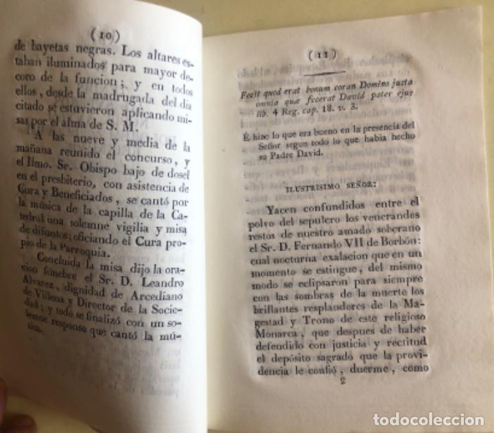 Libros antiguos: MURCIA- ORACION FUNEBRE FERNANDO VII- REAL SOCIEDAD ECONOMICA AMIGOS DEL PAIS- 1.833 - Foto 2 - 195392790