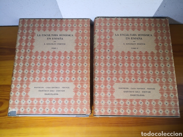 Libros antiguos: 1928 - La Escultura Románica, Obra Completa en 2 Tomos, A. Kingsley Porter - Foto 3 - 195405393