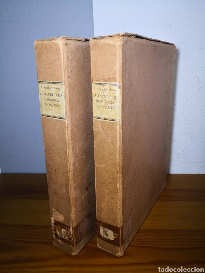Libros antiguos: 1928 - La Escultura Románica, Obra Completa en 2 Tomos, A. Kingsley Porter - Foto 2 - 195405393