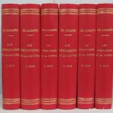 Libros antiguos: 1927.- LAS INDISCRECIONES DE LA HISTORIA. DOCTOR CABANES. 6 TOMOS. Lote 195413356