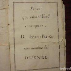 Libros antiguos: MANUSCRITO DEL SIGLO XVIII. EL DUENDE. Lote 195415746