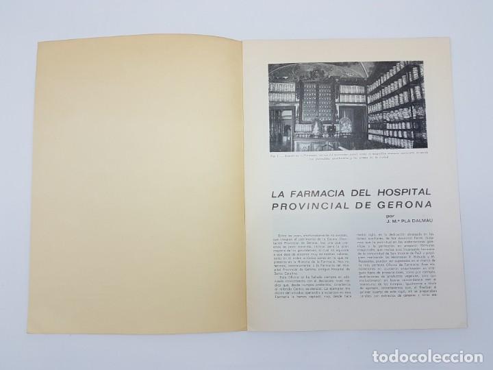 Libros antiguos: LA FARMACIA HOSPITAL PROVINCIAL DE GERONA, SEGLE XVIII ( SEPARADA 1971 ) ILUSTRADA - Foto 4 - 195456585