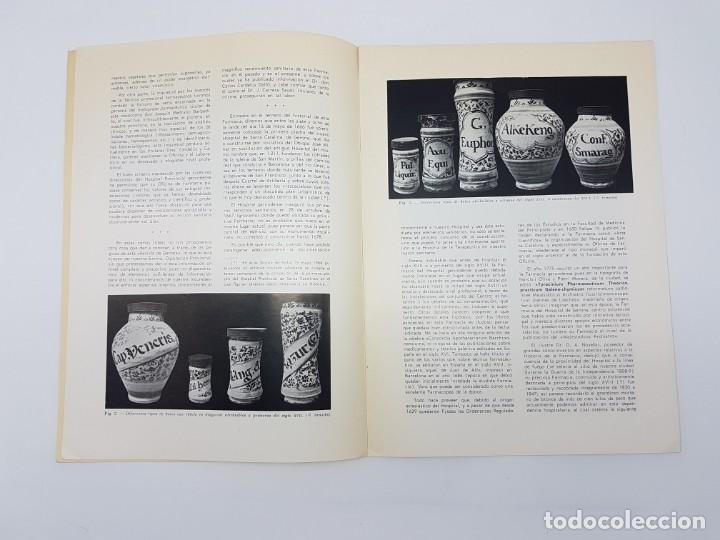 Libros antiguos: LA FARMACIA HOSPITAL PROVINCIAL DE GERONA, SEGLE XVIII ( SEPARADA 1971 ) ILUSTRADA - Foto 5 - 195456585