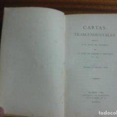 Libros antiguos: CARTAS TRASCENDENTALES ESCRITAS POR JOSE CASTRO Y SERRANO EN 1862. IMP. FORTANET MADRID 1887.. Lote 195461912