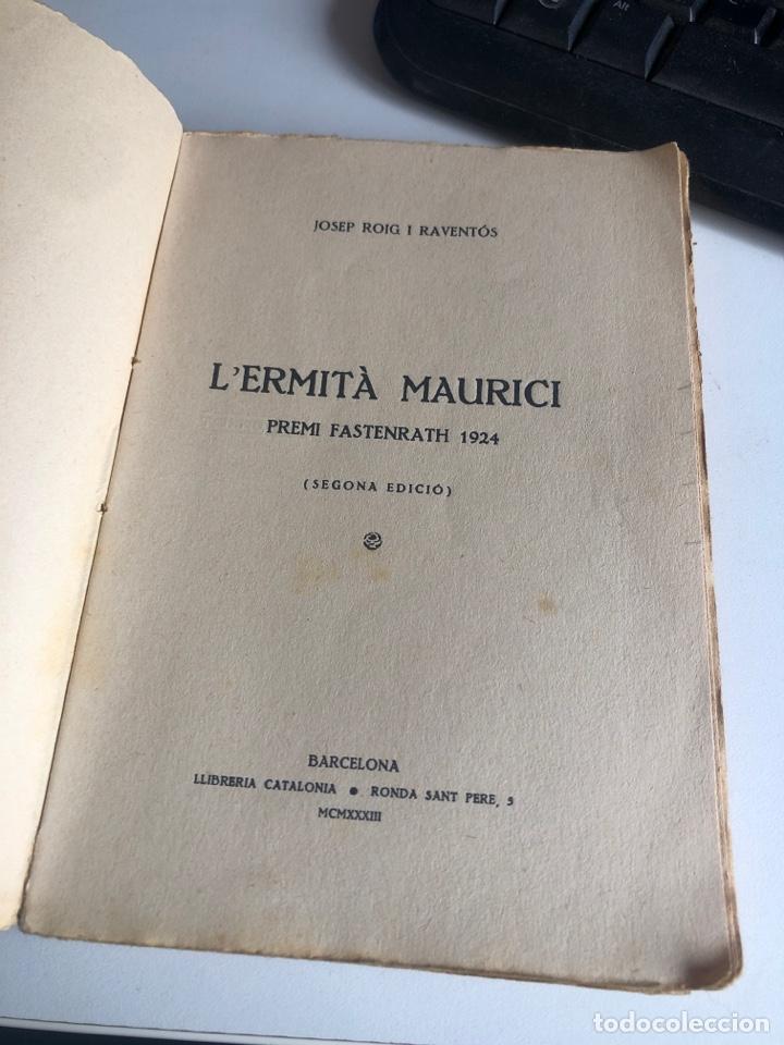Libros antiguos: L'ermita maurici - Foto 3 - 195477873