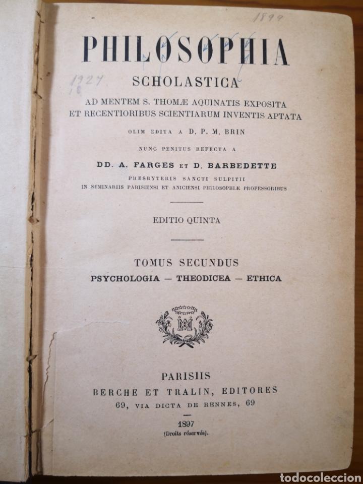Libros antiguos: 1897 - Philosophic Scholastica, A. Farges y Barbedette - Foto 2 - 195486032