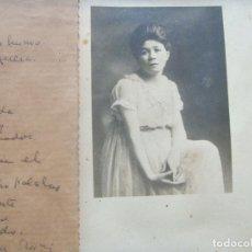 Libros antiguos: POEMA MANUSCRITO DE ALFONSINA STORNI POSIBLEMENTE INÉDITO CON FOTO ORIGINAL. . Lote 195487400