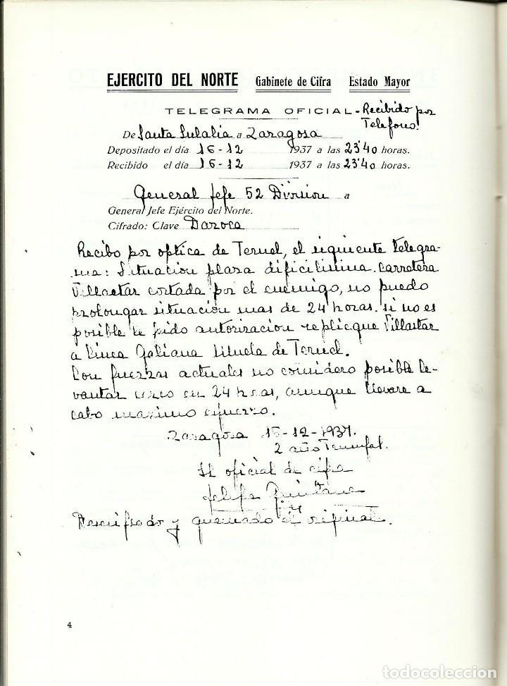 Libros antiguos: BATALLA EN LOS CAMPOS DE TERUEL. VALENTIN DAVILA JALON - Foto 3 - 195492180