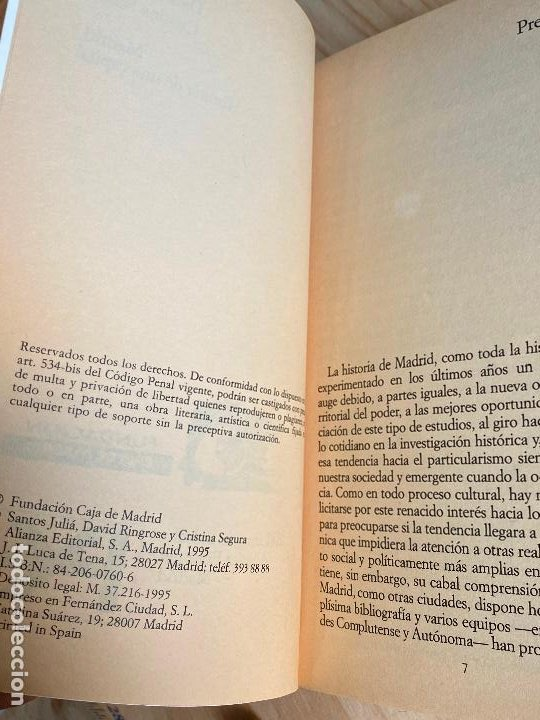 Libros antiguos: MADRID, HISTORIA DE UNA CAPITAL. SANTOS JULIÁ. DAVID RINGROSE y CRISTINA SEGURA - Foto 3 - 195510551