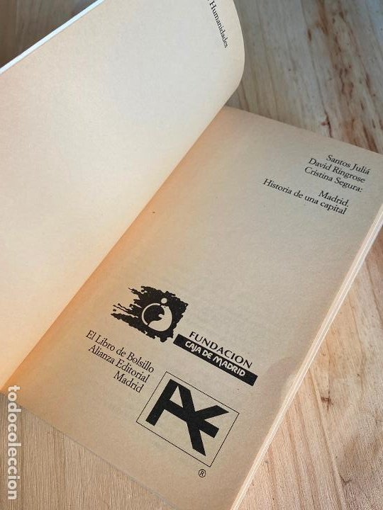 Libros antiguos: MADRID, HISTORIA DE UNA CAPITAL. SANTOS JULIÁ. DAVID RINGROSE y CRISTINA SEGURA - Foto 4 - 195510551