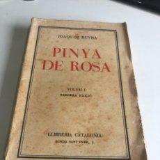 Libros antiguos: PINYA DE ROSA. Lote 195556792