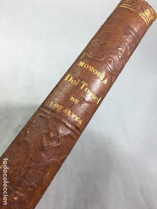 Libros antiguos: MEMORIA SOBRE LOS TRABAJOS DE PERFORACION DE TUNEL DE LOS ALPES, LÁMINAS DESPLEGABLES 1863 - Foto 2 - 195614305