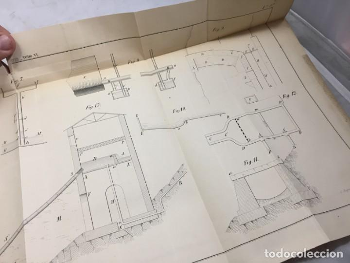 Libros antiguos: MEMORIA SOBRE LOS TRABAJOS DE PERFORACION DE TUNEL DE LOS ALPES, LÁMINAS DESPLEGABLES 1863 - Foto 9 - 195614305