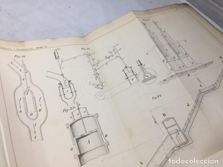 Libros antiguos: MEMORIA SOBRE LOS TRABAJOS DE PERFORACION DE TUNEL DE LOS ALPES, LÁMINAS DESPLEGABLES 1863 - Foto 10 - 195614305