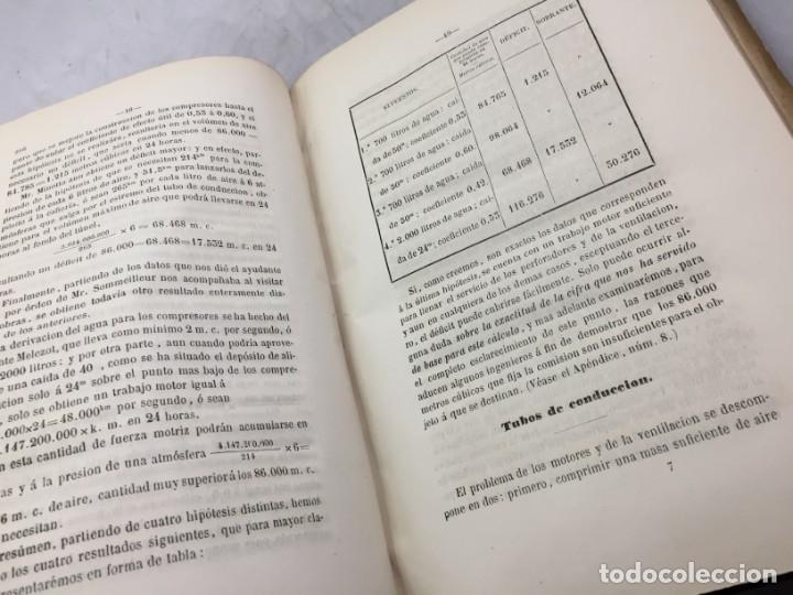 Libros antiguos: MEMORIA SOBRE LOS TRABAJOS DE PERFORACION DE TUNEL DE LOS ALPES, LÁMINAS DESPLEGABLES 1863 - Foto 13 - 195614305
