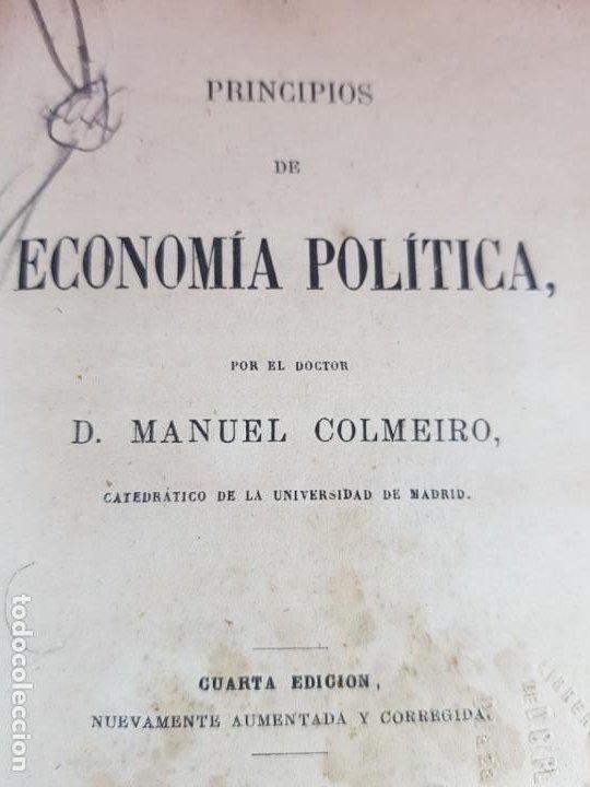 Libros antiguos: LIBRO-ECONOMÍA POLÍTICA-MANUEL COLMEIRO-1873-VER FOTOS - Foto 8 - 195672025