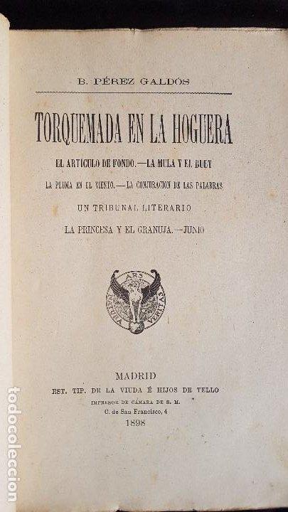 TORQUEMADA EN LA HOGUERA - BENITO PEREZ GALDOS - 1898 (Libros antiguos (hasta 1936), raros y curiosos - Literatura - Narrativa - Otros)