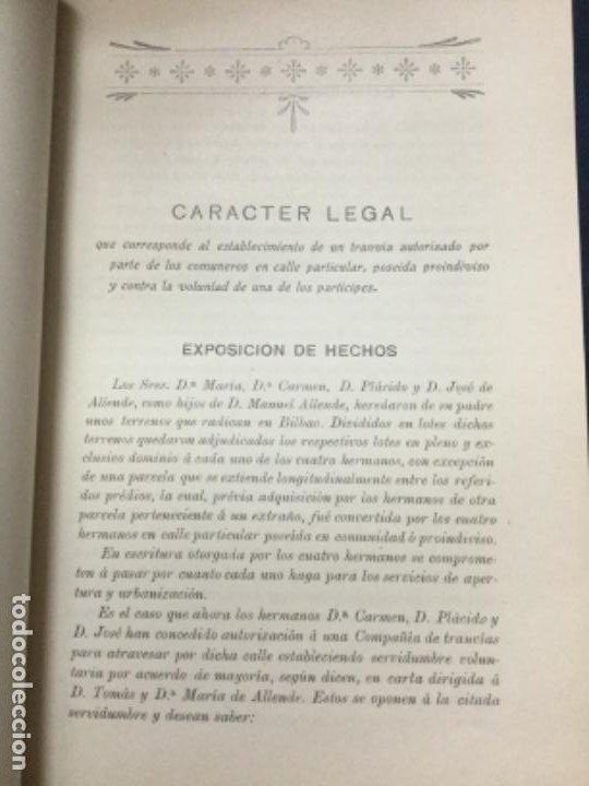 Libros antiguos: DICTAMEN DEL EXCMO. SR. D. ANTONIO MAURA - SOCIEDAD BILBAINA DE ARTES GRAFICAS - 17p. 21x14,5cm - Foto 2 - 195698990