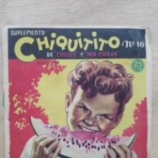Livres anciens: SUPLEMENTO CHIQUITITO DE ``CHICOS Y ``MIS CHICAS´´ - Nº 16 - JUNIO 1942. Lote 195719450