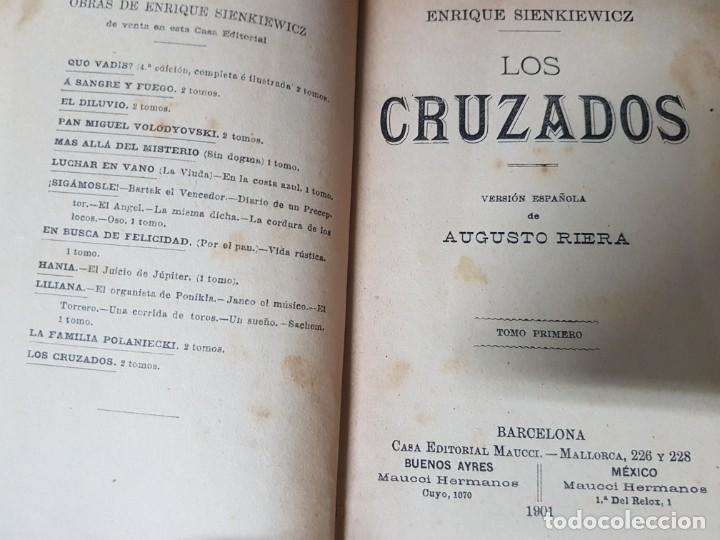 Libros antiguos: Los Cruzados - Enrique Sienkiewicz - Tapas duras - 2 Tomos - Barcelona 1901 - Raros bien conservados - Foto 7 - 195849867