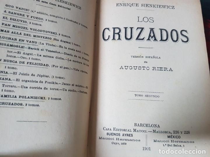 Libros antiguos: Los Cruzados - Enrique Sienkiewicz - Tapas duras - 2 Tomos - Barcelona 1901 - Raros bien conservados - Foto 8 - 195849867