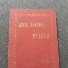 Libros antiguos: SANTO ANTONIO DE LISBOA . POR ANTONIO .L .AÑO 1929. Lote 195855533
