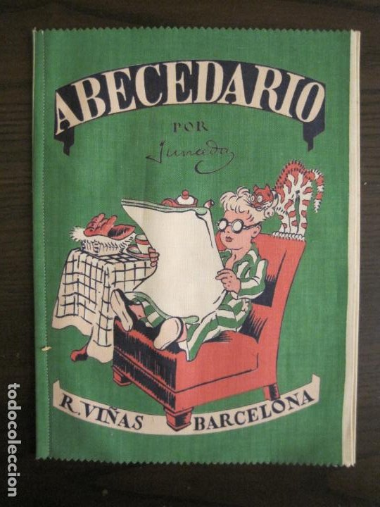 Libros antiguos: ABECEDARIO ILUSTRADO POR JUNCEDA-LIBRO ANTIGUO EN TELA-VER FOTOS-(V-19.271) - Foto 2 - 195873173