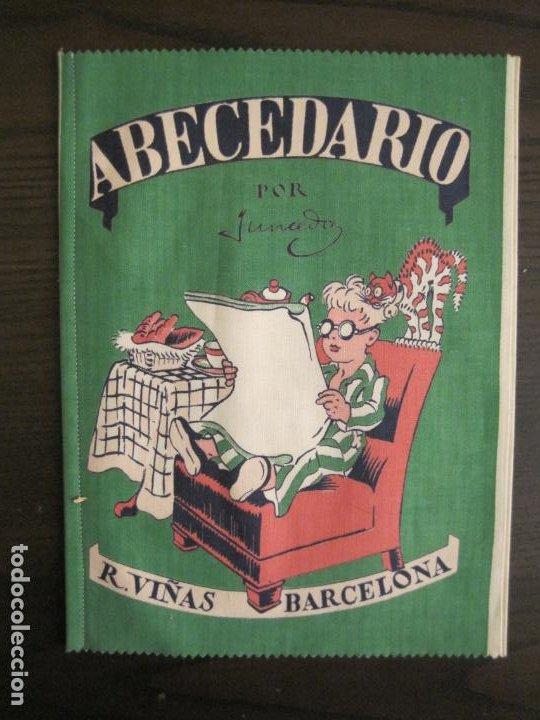ABECEDARIO ILUSTRADO POR JUNCEDA-LIBRO ANTIGUO EN TELA-VER FOTOS-(V-19.271) (Libros Antiguos, Raros y Curiosos - Literatura Infantil y Juvenil - Otros)