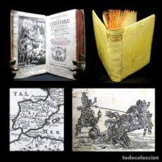 Libros antiguos: AÑO 1738 SOLO 9 EJEMPLARES EN EL MUNDO HISTORIA UNIVERSAL MAPAMUNDI PERGAMINO MAPAS GRABADOS . Lote 195882747