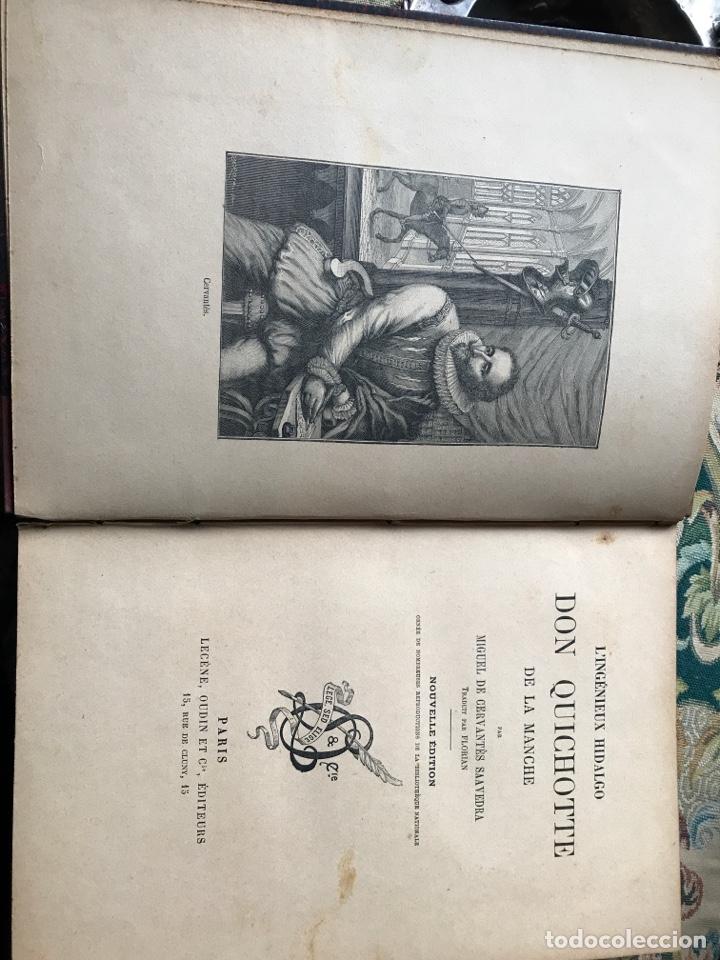 DON QUIJOTE DE LA MANCHA EN FRANCÉS (Libros Antiguos, Raros y Curiosos - Literatura - Otros)